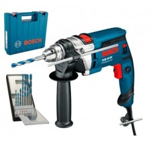 Дриль ударний Bosch GSB 16 RE (750 Вт, 13 мм) + набір сверл Robust Line CYL-9 MultiConstruction (7 шт.) (0615990L2N)