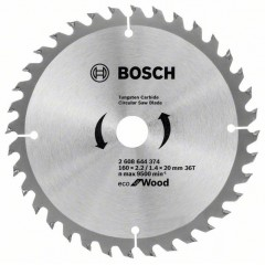 Диск пильний 160х20/16х36Т Wood Eco, Bosch