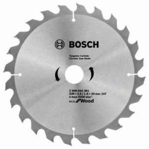 Диск пильний 230х30х24Т Wood Eco, Bosch