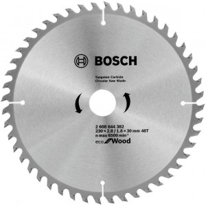 Диск пильний 230х30х48Т Wood Eco, Bosch